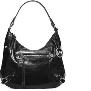 Michael Kors | Black Leather Fallon Shoulder Bag